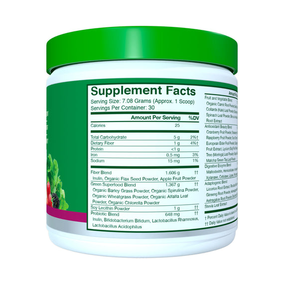 60ct Berry Greens & Superfoods Supplement Facts