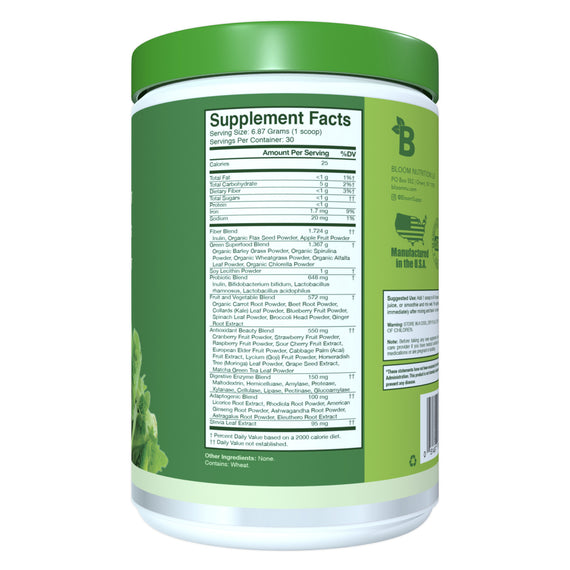 Original – 60 Ct Greens & Superfoods Supplement Facts
