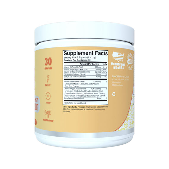 Sour Peach Ring High Energy Pre-Workout Supplement Facts