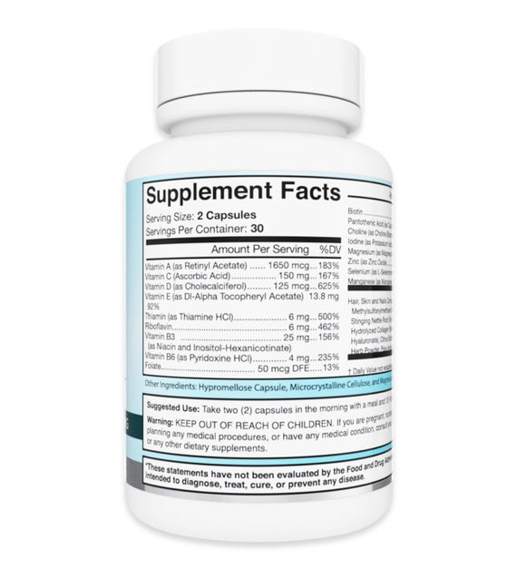 Hair, Skin & Nails Hair, Skin & Nails Supplement Facts