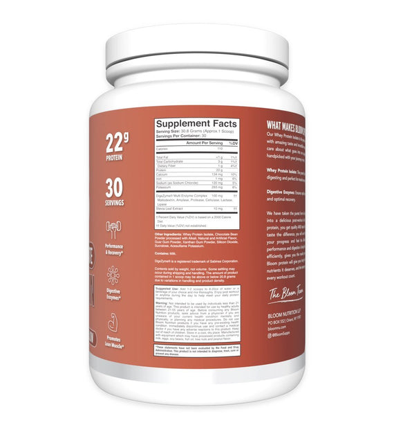 Hot Cocoa Marshmallow Whey Isolate Protein Supplement Facts