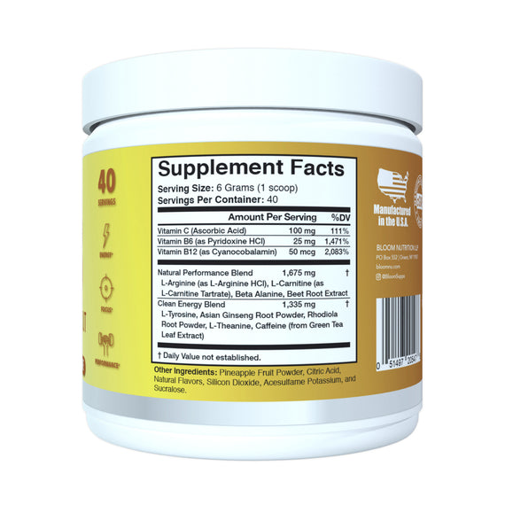 Iced Tea Lemonade Original Pre-Workout Supplement Facts