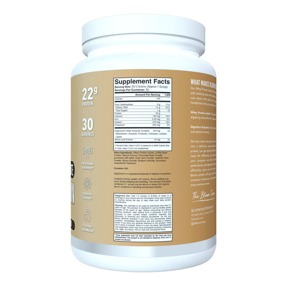 Caramel Macchiato Whey Isolate Protein Supplement Facts