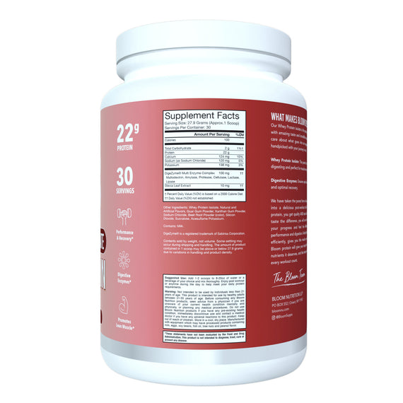 Red Velvet Whey Isolate Protein Supplement Facts
