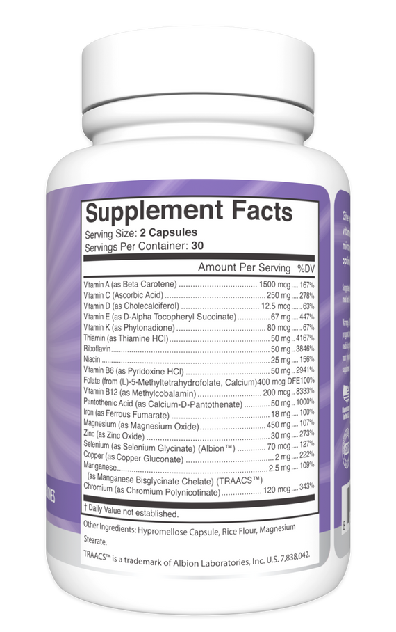 Multi-Vitamin Multi-Vitamin Supplement Facts