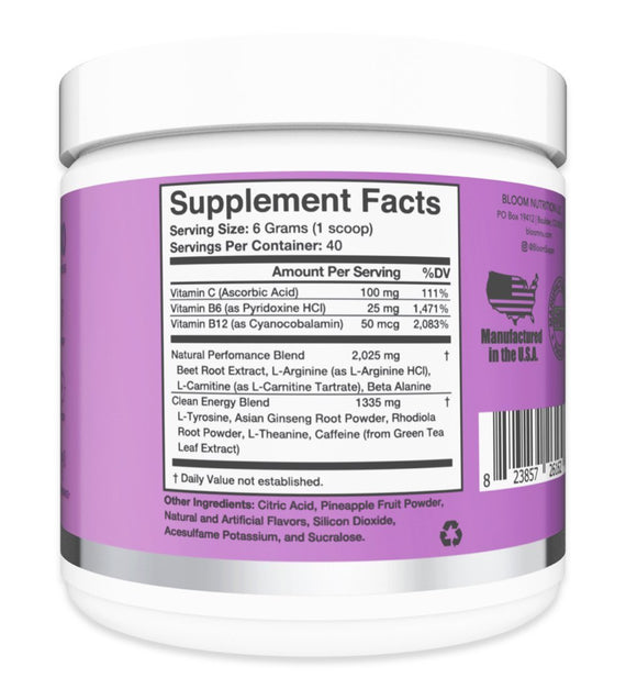 Berry Pomegranate Original Pre-Workout Supplement Facts