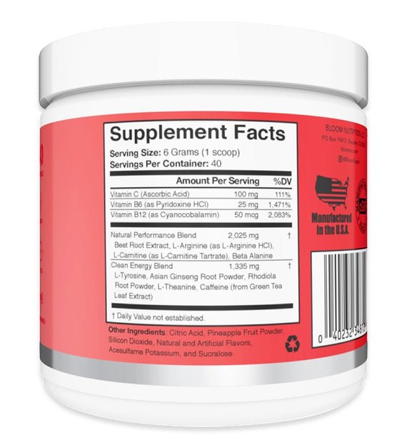Cherry & Lime Original Pre-Workout Supplement Facts