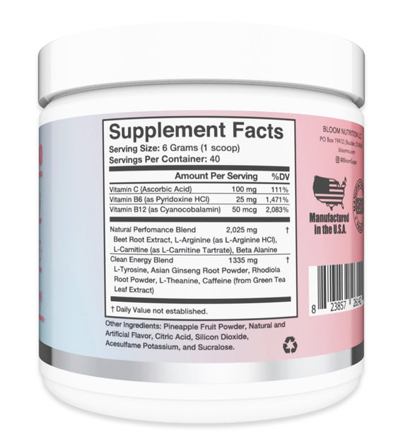 Cotton Candy Original Pre-Workout Supplement Facts