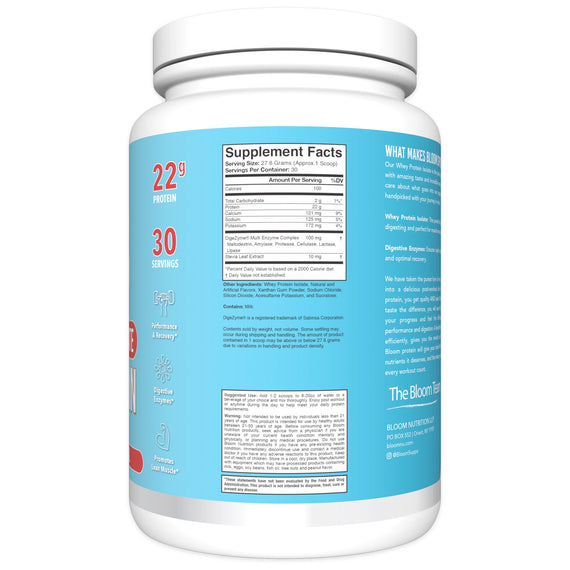 Fruity Cereal Whey Isolate Protein Supplement Facts