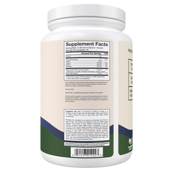 Blueberry Cheesecake Whey Isolate Protein Supplement Facts
