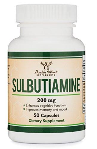 Sulbutiamine Capsules (Nootropic Supplement) Made in USA, 50 Count 200mg - Augment Hub