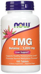 NOW Foods Extra Strength TMG 1,000 mg Tabs, 100 ct - Augment Hub