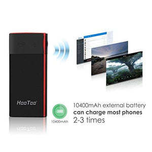 HooToo Wireless Travel Router, 10400mAh External Battery, USB Port, High Performance Travel Charger - TripMate Titan (Not a Hotspot) - Augment Hub