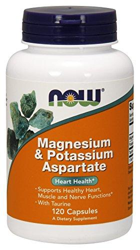 NOW Magnesium & Potassium Aspartate with Taurine,120 Capsules - Augment Hub