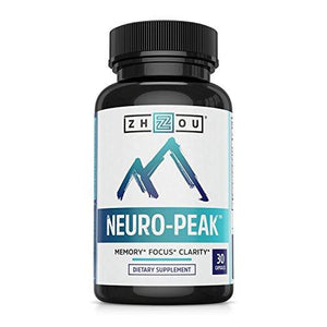 Neuro Peak Brain Support Supplement - Memory, Focus & Clarity Formula - Nootropic Scientifically Formulated for Optimal Performance - DMAE, Rhodiola Rosea, Bacopa Monnieri, Ginkgo Biloba & More - Augment Hub