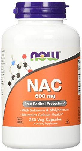NOW NAC 600 mg,250 Veg Capsules - Augment Hub
