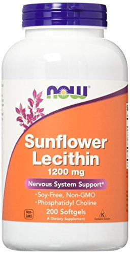 NOW Sunflower Lecithin 1200 mg,200 Softgels - Augment Hub