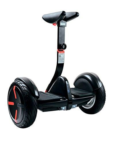 Segway miniPRO Smart Self Balancing Transporter 2018 Edition, 12.5 Mile Range, 10 MPH of Top Speed, 10.5-Inch Pneumatic Air Filled Tires, Mobile App Control, Customizable LED Lights (Black) - Augment Hub