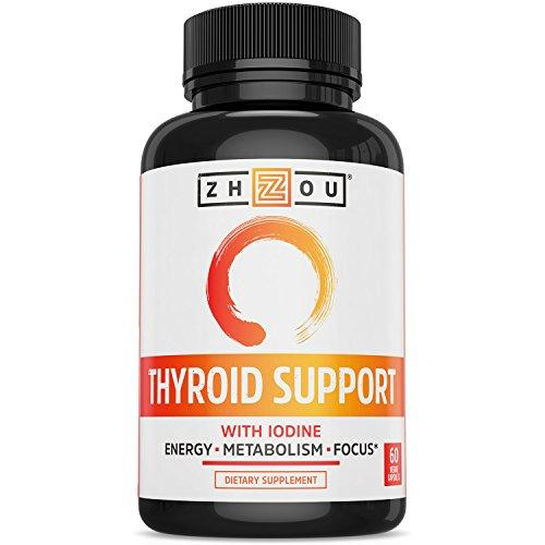 Thyroid Support Complex With Iodine - Energy, Metabolism & Focus Formula - Vegetarian, Soy & Gluten Free - 'Feel Like Your Old Self Again' - Augment Hub