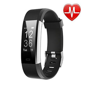 LETSCOM Fitness Tracker HR, Activity Tracker Watch with Heart Rate Monitor, Waterproof Smart Band with Step Counter, Calorie Counter, Pedometer Watch for Kids Women and Men, Android & iOS - Augment Hub