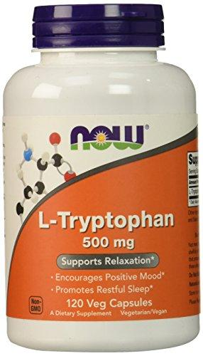 NOW L-Tryptophan 500 mg,120 Veg Capsules - Augment Hub