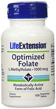 Life Extension Optimized Folate (l-methylfolate), 1000 Mcg, Vegetarian Tablets, 100-Count - Augment Hub