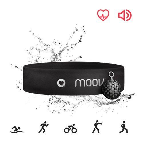 Moov HR Sweat, Swim Tracker Heart Rate Monitor& Audio Coach, Bluetooth Headband, Running HIIT Cycling For Android and iOS - Augment Hub