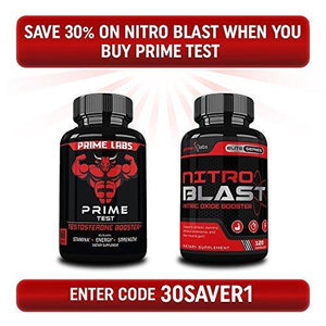 Prime Labs Men's Testosterone Booster (60 Caplets) - Natural Stamina, Endurance and Strength Booster - Fortifies Metabolism - Promotes Healthy Weight Loss and Fat Burning - Augment Hub