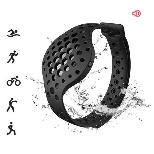 3D Fitness Tracker & Real Time Audio Coach, Moov Now:Swimming Running Water Resistant Activity Calories Tracker with Sleep Monitor, Bluetooth Smart Wristband for Android and iOS, Stealth Black - Augment Hub