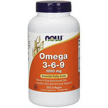 NOW Omega 3-6-9 1000 mg,250 Softgels - Augment Hub