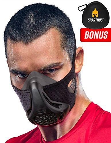 Sparthos Workout Mask - High Altitude Elevation Simulation - for Gym, Cardio, Fitness, Running, Endurance and HIIT Training [16 Breathing Levels] - Augment Hub