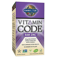Garden of Life Zinc Vitamin - Vitamin Code Raw Zinc Whole Food Supplement with Vitamin C, Vegan, 60 Capsules - Augment Hub