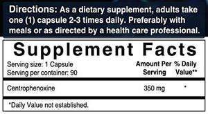 Ultra Centrophenoxine 350 mg, 90 Capsules, Powerfully Supports Cognitive & Brain Health, Enhances Focus & Memory Function, Improves Attention & Processing Speed. Non-GMO and Made In USA - Augment Hub