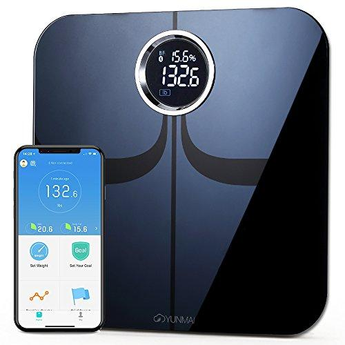 Yunmai Premium Smart Scale - Body Fat Scale with new FREE APP & Body Composition Monitor with Extra Large Display - Works with iPhone 8/iPhone X(10) - Augment Hub