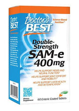 Doctor's Best SAM-e 400 mg, Vegan, Gluten Free, Soy Free, Mood and Joint Support, 60 Enteric Coated Tablets - Augment Hub