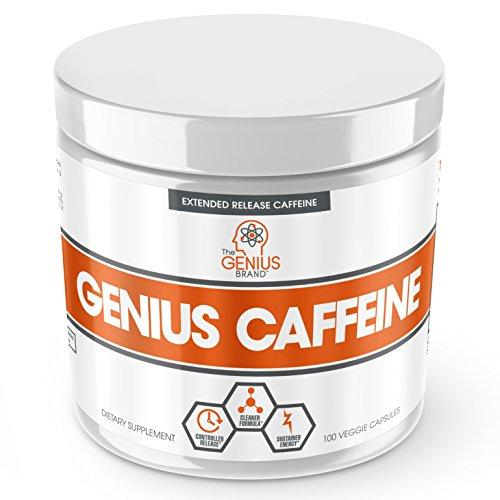 GENIUS CAFFEINE – Extended Release Microencapsulated Caffeine Pills, All Natural Non-Crash Sustained Energy & Focus Supplement –Preworkout & Nootropic Brain Booster For Men & Women,100 veggie capsules - Augment Hub