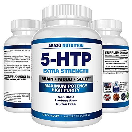 5-HTP 200 mg Supplement - 120 Capsules - Arazo Nutrition - Augment Hub