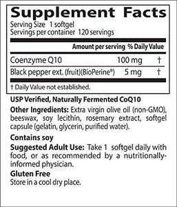 Doctor's Best High Absorption CoQ10 with BioPerine, Gluten Free, Naturally Fermented, Heart Health, Energy Production,100 mg 120 Softgels - Augment Hub
