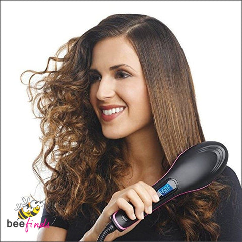 Hi-Quality Hair Straightening Premium Ceramic Brush - Beauty & Skin Care