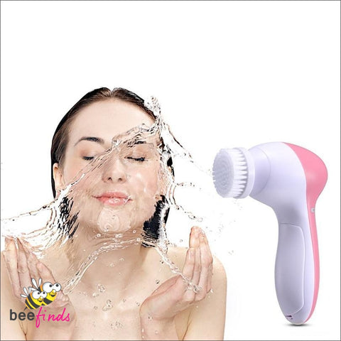 Portable 5-In-1 Facial Cleanser And Massager - Health & Personal Care