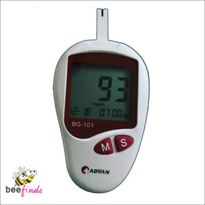 *safe & Accurate!* Blood Glucose Monitoring Device W/ Free 10 Test Strips - Health & Personal Care
