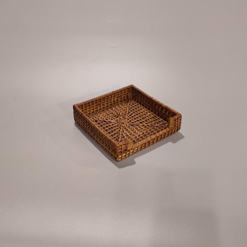 Rattan Square Napkin Holder, 12-Pack