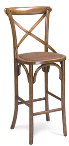 "46.5""H EVA CROSS BACK BAR STOOL"