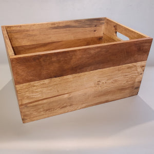 Reclaimed Wood Crate, 3-Pack