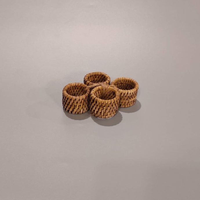 Rattan Napkin Rings Set, 12-Pack