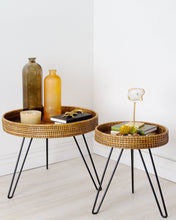 Load image into Gallery viewer, Amapura Small Round Rattan Side Table