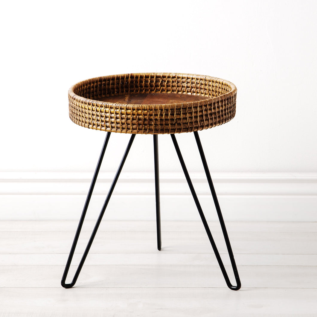 Amapura Small Round Rattan Side Table