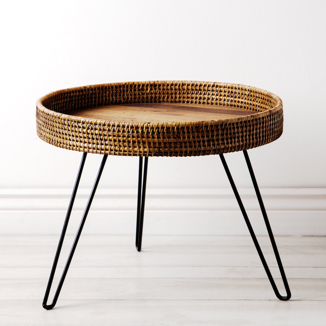 Amapura Large Round Rattan Side Table