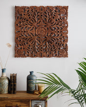 Load image into Gallery viewer, Amapura Carved Teak Wood Wall Decor