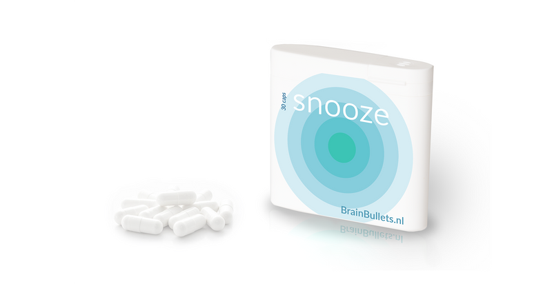 snooze sleeping melatonine pills package